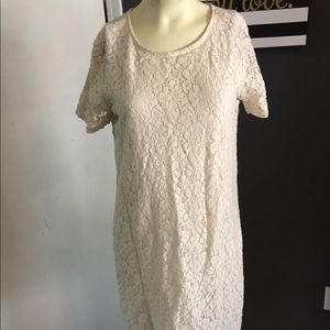 W118 Walter baker cream lace dress size m